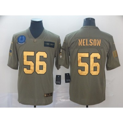 Nike Colts 56 Quenton Nelson 2019 Olive Gold Salute To Service Limited Men Jersey