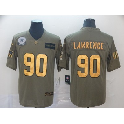 Nike Cowboys 90 Demarcus Lawrence 2019 Olive Gold Salute To Service Limited Men Jersey