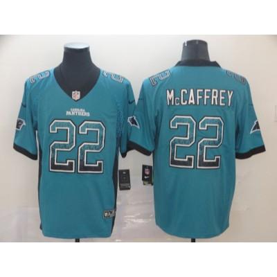Nike Panthers 22 Christian McCaffrey Blue Drift Fashion Limited Men Jersey