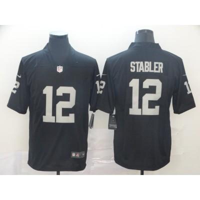 Nike Raiders 12 Ken Stabler Black Vapor Untouchable Limited Men Jersey