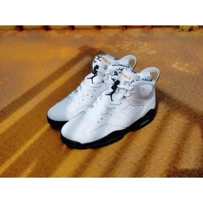 Air jordan 6 White Black Shoes