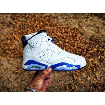 Air Jordan 6 White Blue Shoes