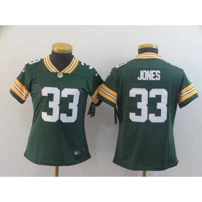 Nike Packers 33 Aaron Jones Green Vapor Untouchable Limited Women Jersey