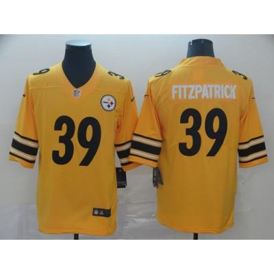 Nike Steelers 39 Minkah Fitzpatrick Yellow Inverted Legend Limited Men Jersey