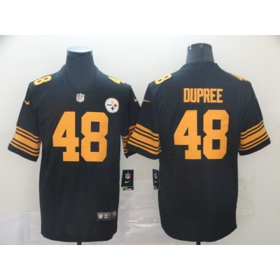Nike Steelers 48 Bud Dupree Black Limited Color Rush Limited Men Jersey