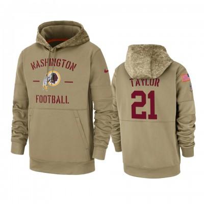 Nike Washington Redskins 21 Sean Taylor Tan 2019 Salute to Service Sideline Therma Pullover Hoodie