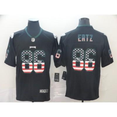 Nike Eagles 86 Zach Ertz Black USA Flag Limited Men Jersey