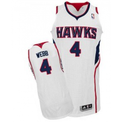 NBA Hawks 4 Spud Webb White Home Men Jersey