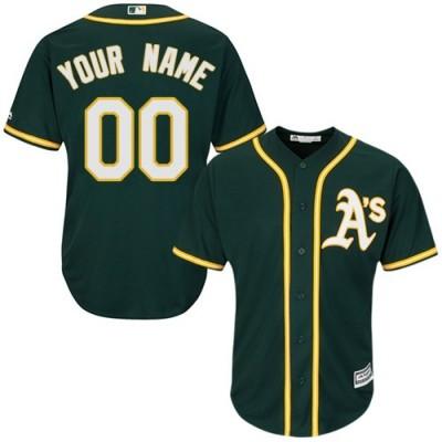 MLB Athletics Customized Green Men Jersey