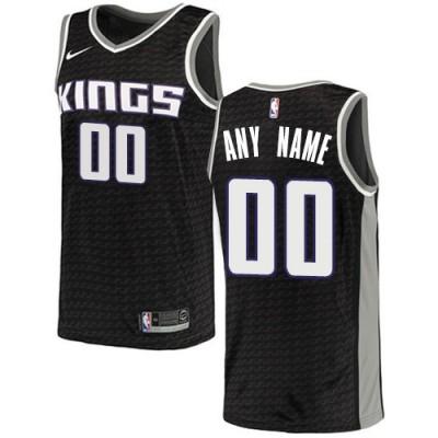 NBA Kings Black Sacramento Customized Men Jersey