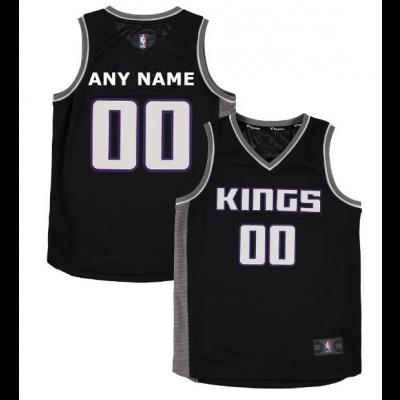 NBA Kings Black Sacramento Customized Toddler Jersey