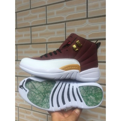 Air Jordan 12 Brown White Shoes