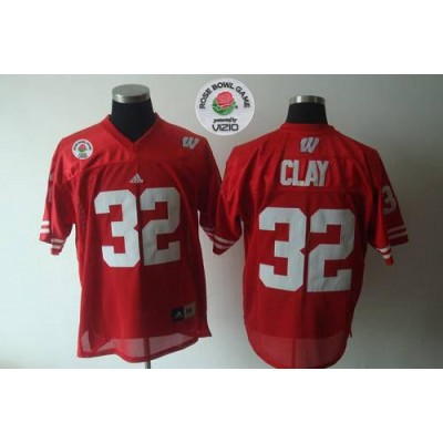 NCAA Wisconsin Badgers 32 Red Rose Bowl Game Men Jersey