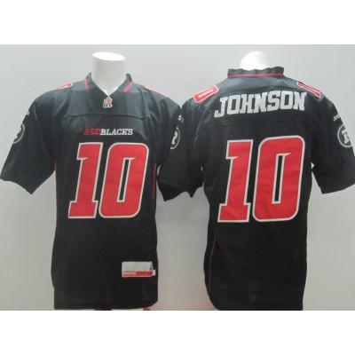CFL Ottawa Redblacks #10 Johnson Men's  NFL Jersey