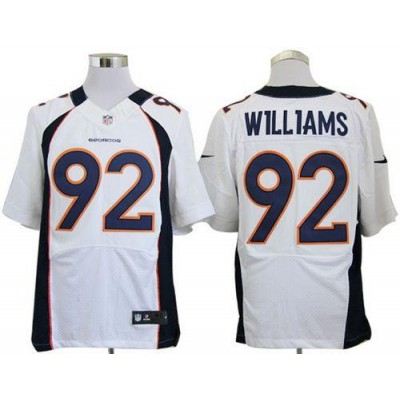 Nike Denver Broncos No.92 Sylvester Williams White Male Stitched Elite Jersey