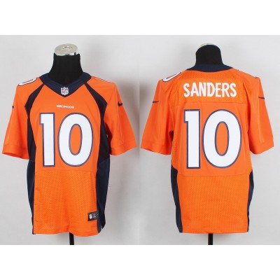 Denver Broncos #10 Emmanuel Sanders Orange Elite Jersey