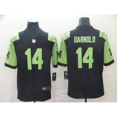 NFL New York Jets 14 Sam Darnold Jets City Edition Black Green Jersey