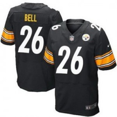 Pittsburgh Steelers No.26 Le'Veon Bell Black Men's Football Elite Jersey