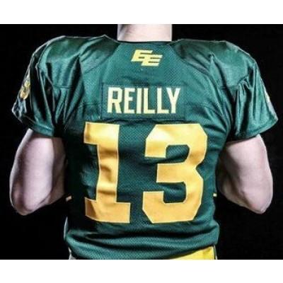 Nike Edmonton Eskimos No.13 Mike Reilly Green Male Elite Football New Jersey