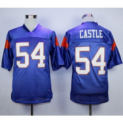 Blue Mountain State 54 Thad Castle Blue Stitched Football Movie Jersey