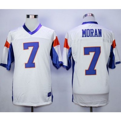 Blue Mountain State 7 Alex Moran White Stitched Football Movie Jersey