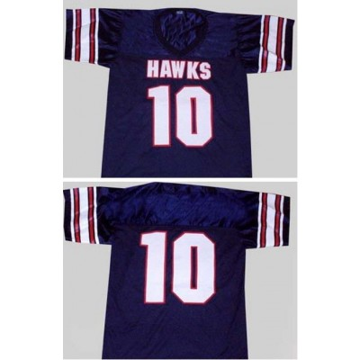 NFL High School Hawks 10 Brett Favre Customized Navy Men Jersey