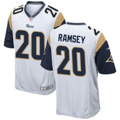 Los Angeles Rams 20 Jalen Ramsey White Limited Vapor Jersey