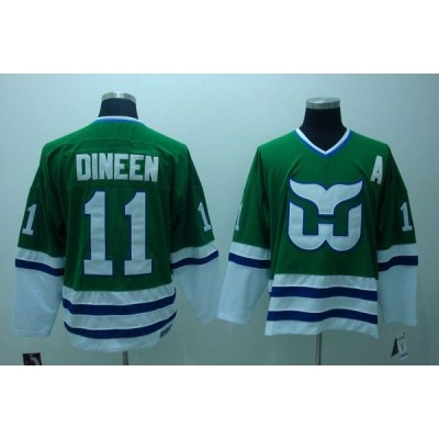 NHL Whalers 11 Kevin Dineen CCM Throwback Green Men Jersey