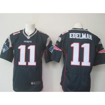 NFL New England Patriots 11 Julian Edelman Navy Blue Men Nike Elite Jersey New Logo