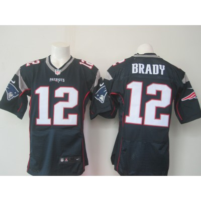 NFL New England Patriots 12 Tom Brady Blue Men Nike Elite Jersey New Logo