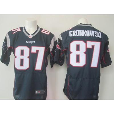 NFL New England Patriots 87 Rob Gronkowski Navy Blue Men Nike Elite Jersey New Logo