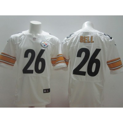 NFL Pittsburgh Steelers #26 Le'Veon Bell white Elite Jersey