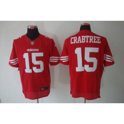 Nike San Francisco 49ers No.15 Michael Crabtree Red Elite Jersey