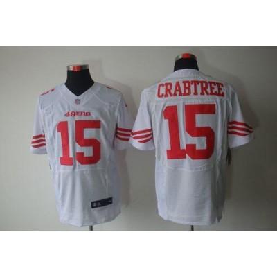 Nike San Francisco 49ers No.15 Michael Crabtree White Elite Jersey