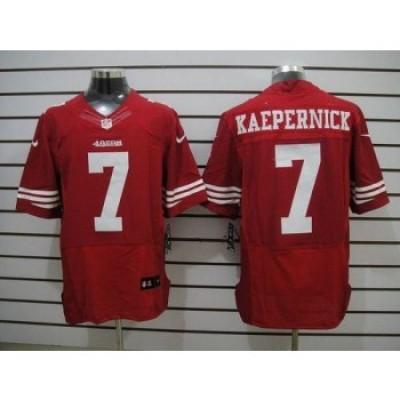 Nike San Francisco 49ers No.7 Colin Kaepernick Red Elite Jersey