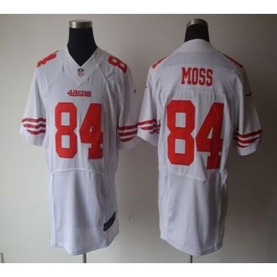 Nike San Francisco 49ers No.84 Randy Moss White Elite Jersey
