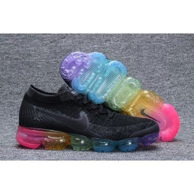 Nike Air VaporMax Flyknit Mens Black Colorful Shoes