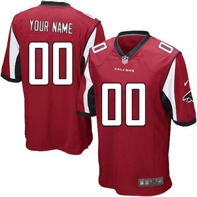 Nike Atlanta Falcons Customized Red Elite Youth NFL personalized Jerseys