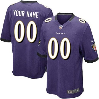 Nike Baltimore Ravens Customized Purple Elite Youth NFL personalized Jerseys