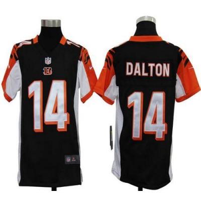 Youth Nike Cincinnati Bengals 14 Andy Dalton Black NFL Elite Jersey