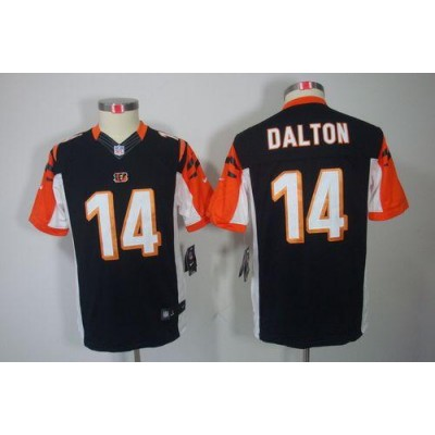 Youth Nike Cincinnati Bengals 14 Andy Dalton Black NFL Limited Jersey