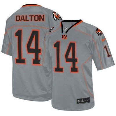 Nike Bengals #14 Andy Dalton Lights Out Grey Youth Embroidered NFL Elite Jersey