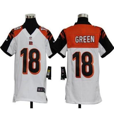 Youth Nike Cincinnati Bengals 18 A.J. Green White NFL Elite Jersey