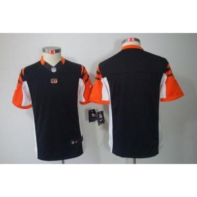 Youth Nike Cincinnati Bengals Blank Black NFL Limited Jersey