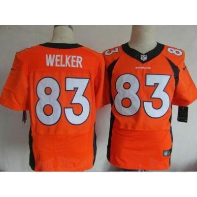 Nike Denver Broncos No.83 Wes Welker Orange Male Stitched Elite Jersey