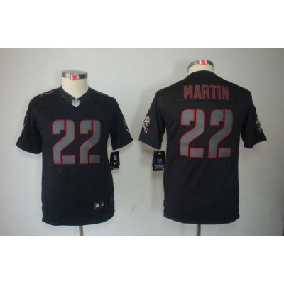 Nike Buccaneers #22 Doug Martin Black Impact Youth Embroidered NFL Limited China Jerseys