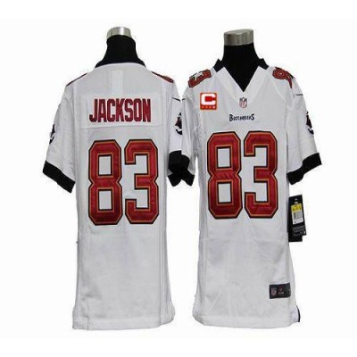 Youth Nike Tampa Bay Buccaneers 83 Vincent Jackson White C Patch NFL Elite Jersey