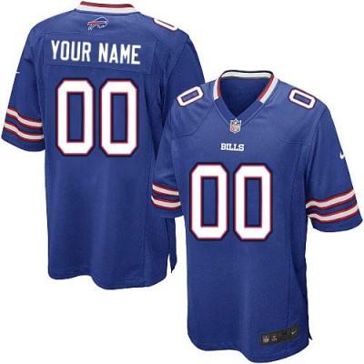Nike Buffalo Bills Customized Royal Blue Elite Youth NFL personalized Jerseys