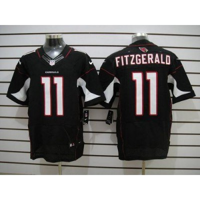 Nike Arizona Cardinals No.11 Larry Fitzgerald Black Elite Football Jersey