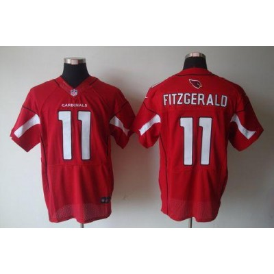 Nike Arizona Cardinals No.11 Larry Fitzgerald Red Elite Football Jersey